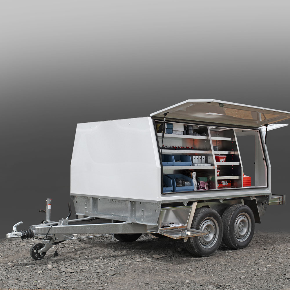 Service Body Trailer Loaded With Gear Box Body Utemaster Tradie Trailer
